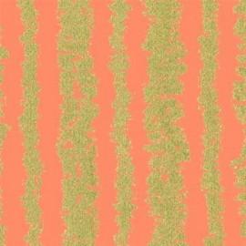 Tissu Glitz Bars - peach x 10cm