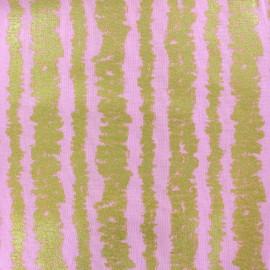 Tissu Glitz Bars - pink x 10cm