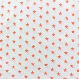 Stars Fabric - coral/white x 10cm