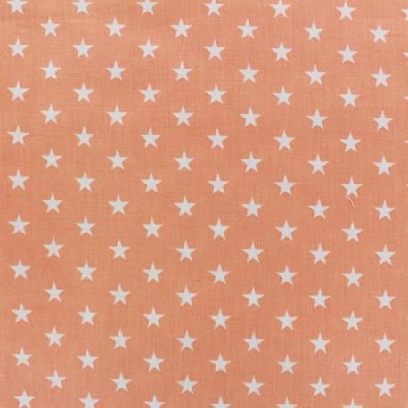 Stars Fabric - white/coral x 10cm