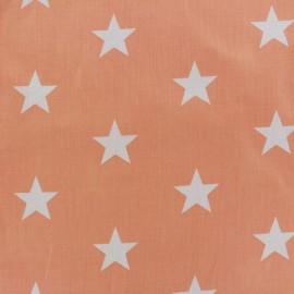 Cotton Fabric Grandes Etoiles - coral x 10cm