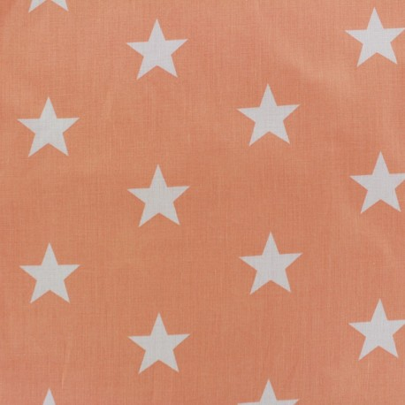 Big Stars Fabric - coral x 10cm