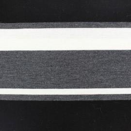 Tissu Jersey Rayado écru x 17cm