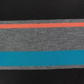 Tissu Jersey Rayado turquoise x 17cm