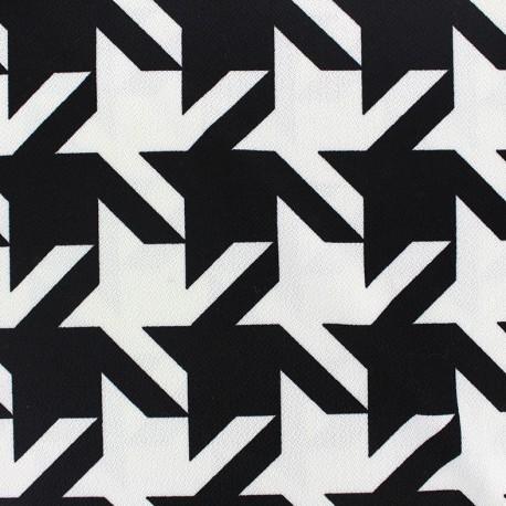 Spandex Crepe Fabric Grand Pied de Poule x 10cm