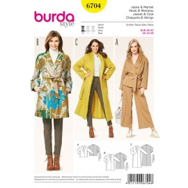 Jacket & Coat Sewing Pattern Burda n°6704