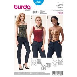Patron Bustier Burda n°6709