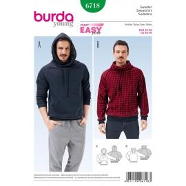 Patron Sweat Burda n°6718