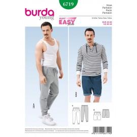 Patron Femme & Homme Pantalon Burda n°6719