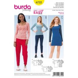 Patron T-shirt & Robe Burda n°6722
