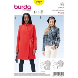 Patron Veste Burda n°6727
