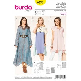 Patron Robe & Tunique Burda n°6731