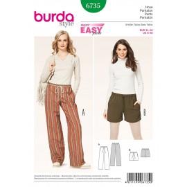 Patron Femme Pantalon Burda n°6735