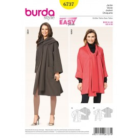 Patron Veste Burda n°6737
