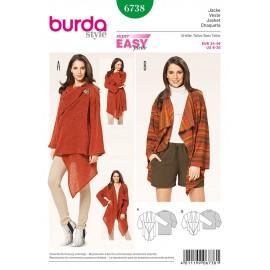 Patron Veste Burda n°6738
