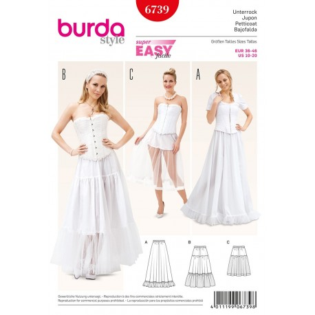 Petticoat Sewing Pattern Burda n°6739