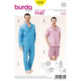 Men's Sleepwear Sewing Pattern Burda n°6741