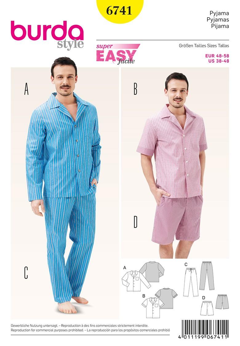 85c4d9960d Men s Sleepwear Sewing Pattern Burda n°6741 - Ma Petite Mercerie