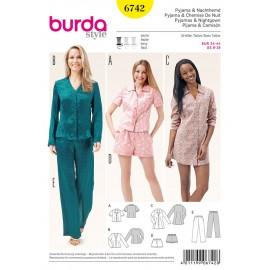 Patron Pyjama & Chemise Burda n°6742