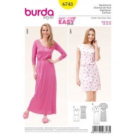 Patron Femme Chemise de nuit Burda n°6743