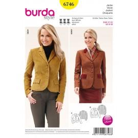 Patron Veste Burda n°6746