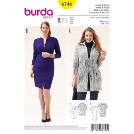 Patron Veste & Robe Burda n°6748