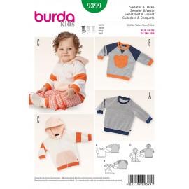 Patron Sweater & Veste Burda n°9399