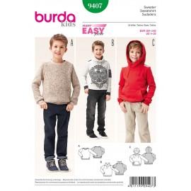 Patron Sweatshirt Burda n°9407