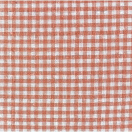 Small checked Vichy fabric - Peach x 10cm