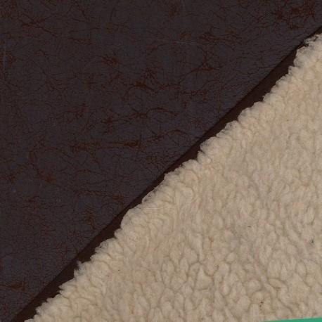 Reversible sheep fur - Light Brown x 10cm