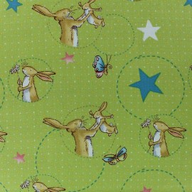 Fabric Guess How Much I love you - A fond green x 10cm