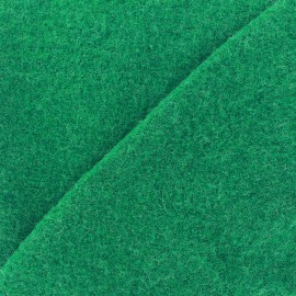 ♥ Coupon 30 cm X 140 cm ♥ Boiled wool - bright green