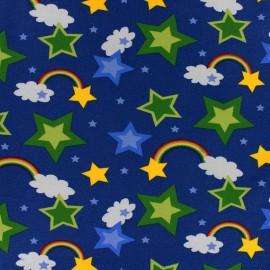 Tissu Jersey Rainbow marine x 10cm