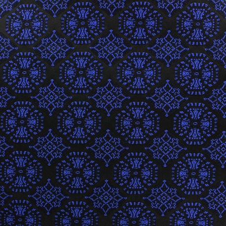 Jacquard stretch fabric Ornements - blue x 10cm