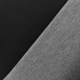Neoprene /jersey viscose fabric 2 mm - black/grey 10cm