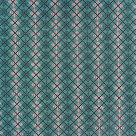 Cotton fabric Highland - green loch ness x 10cm
