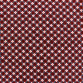Tissu coton Trèfle bleu ardoise x 10cm