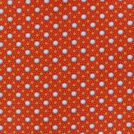 Tissu coton Lichen rouille x 10cm
