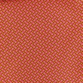 Oeko-Tex cotton fabric Granit - tangerine x 10cm