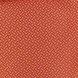 Tissu coton Granit tangerine x 10cm