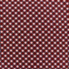 Tissu enduit coton Trèfle bleu ardoise x 10cm
