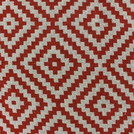 Jaquard Vannerie fabric - red x 13cm