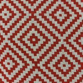 Tissu Jacquard  Vannerie losange rouge x 13cm