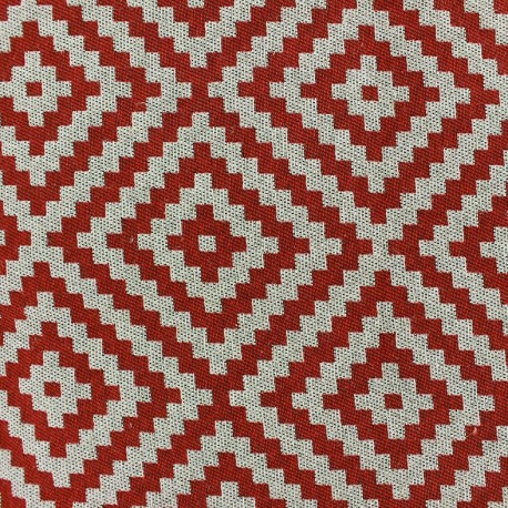 Vannerie fabric - red x 10cm