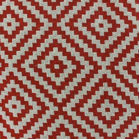 Tissu Vannerie losange rouge x 10cm