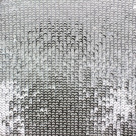 ♥ Only one piece 250 cm X 150 cm ♥ Sequined Fabric Shiny - white and silver