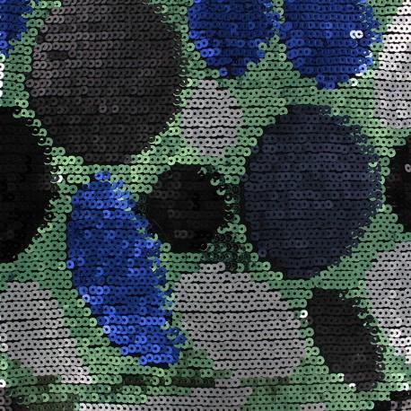 Sequined Fabric Folies - green x 10cm