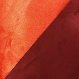 Tissu Suédine épaisse bicolore Alaska orange/brique x 10cm