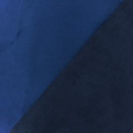 Tissu Suédine épaisse bicolore Alaska bleu roy/marine x 10cm