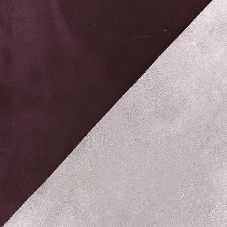 Tissu Suédine épaisse bicolore Alaska prune/parme x 10cm